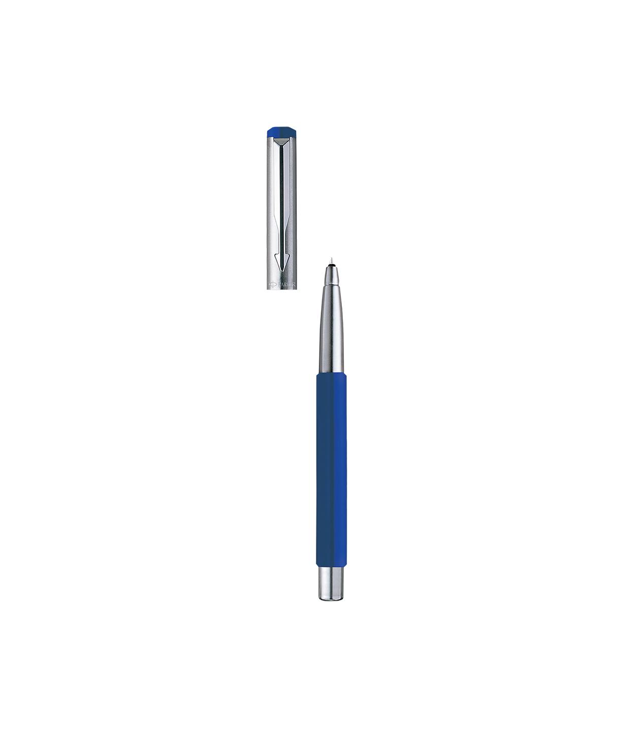 Refill Free Gift Parker Vector Mettalix Roller Ballpoint Pen Blue Colour