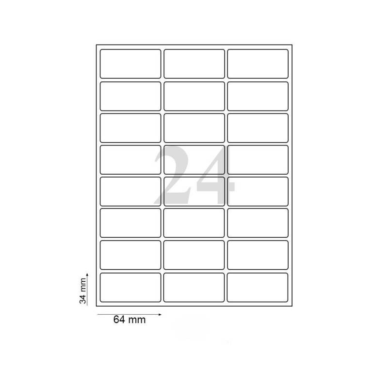 Oddy Label Sheets St 24 A4100 Pack Of 100 Sheets 24 Label Sheet Penpaperoffice